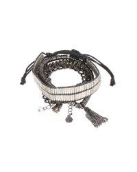 Pieces | Gray Bracelet | Lyst