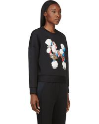 3.1 Phillip Lim - Black Sequined and Embroidered Techno Jersey Sweatshirt - Lyst