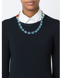Dolce & Gabbana | Green Rose Crystal Beads Necklace | Lyst