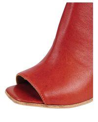 Lemarè - Red Open Toe Mule - Lyst
