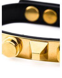 Saint Laurent | Black 'clous De Paris' Bracelet | Lyst