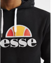Ellesse - Hoodie With Classic Logo Black for Men - Lyst