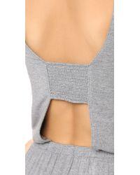 Splendid Gray Open Back Jumpsuit - Marled Grey Heather