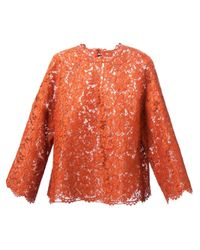 Valentino Red Lace Top