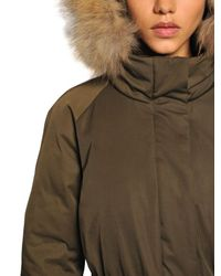 Add Green Waterproof Fur Trimmed Down Parka