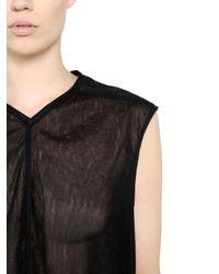 Rick Owens Black Oversized Tulle Dress