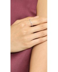 Shashi | Evil Eye Ring - White Gold/clear | Lyst