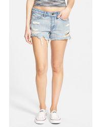 Volcom Blue Distressed Denim Shorts