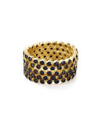 Freida Rothman | Metallic Fredia Rothman Rhodium Beaded Rings, Set Of 5 | Lyst