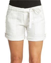 Sanctuary | White Linen Tie Waist Shorts | Lyst
