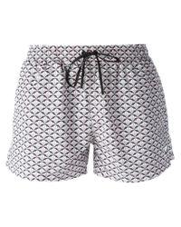 Fendi Multicolor Bag Bugs Swim Shorts for men