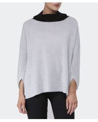 Duffy - Gray Cowl Neck Cashmere Jumper - Lyst