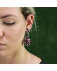 Arunashi Pink Ruby And Diamond Earrings
