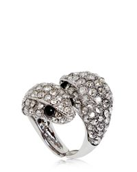 Roberto Cavalli | Metallic Embellished Snake Ring | Lyst