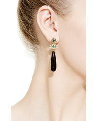 Jemma Wynne - Metallic 18K Gold Onyx, Emerald And Diamond Earrings - Lyst