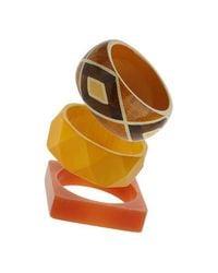 TOPSHOP - Orange Tribal Bangle Pack - Lyst