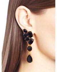 Oscar de la Renta - Metallic Swarovski Crystal Asymmetrical Earrings - Lyst