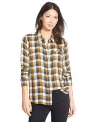 Lucky Brand - Brown 'bungalow' Plaid Button Back Shirt - Lyst