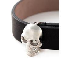 Alexander McQueen   Black Studded Skull Bracelet   Lyst