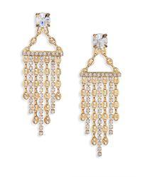 DANNIJO | Metallic Becca Crystal Fringe Earrings | Lyst