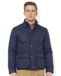 Polo Ralph Lauren Blue Cadwell Quilted Bomber Jacket for men