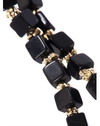 Luis Morais - Black Onyx And Yellowgold Mini Skull Bracelet - Lyst