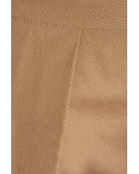 N°21 Brown Pleated Cotton Culottes
