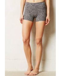 Beyond Yoga   Gray Spacedye Shorts   Lyst