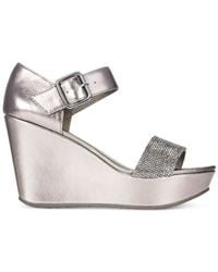 Kenneth Cole Reaction | Metallic Women's Sole Less 2 Platform Wedge Sandals | Lyst