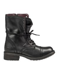 Steve Madden | Black Tropa 2.0 Leather Combat Boots | Lyst