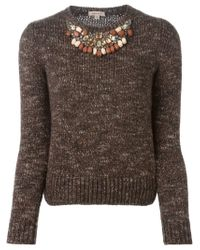P.A.R.O.S.H. - Brown 'nelson' Sweater - Lyst