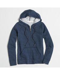 J.Crew - Blue Factory Fleece Full-Zip Hoodie - Lyst
