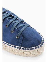 Mango Blue Platform Suede Shoes