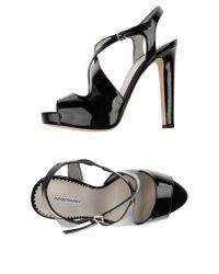 Emporio Armani - Black Sandals - Lyst