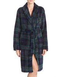 Lauren by Ralph Lauren | Green Print Terry Robe | Lyst