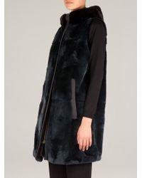 Marni - Green Long Fur Gilet - Lyst