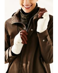 Urban Outfitters | Brown Fuzzy Knit Leather Glove | Lyst
