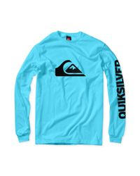Quiksilver Blue Mountain Wave Long Sleeve Tshirt for men