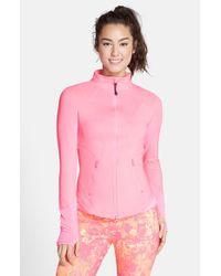 Zella | Pink 'Odyssey' Funnel Neck Jacket | Lyst