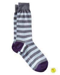 Banana Republic - Factory Wide Stripe Sock Davenport Blue for Men - Lyst