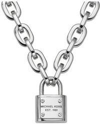Michael Kors - Metallic Mkj3326040 Womens Toggle Necklace - Lyst