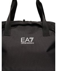 Emporio Armani Black Nylon Canvas Duffle Bag