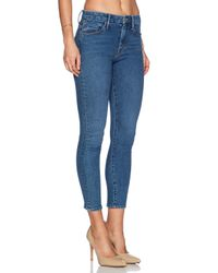 Mother - Blue X Candice Swanepoel High Waist Looker Crop - Lyst
