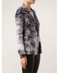 Raquel Allegra - Black Plaid Blazer - Lyst