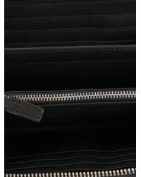 Emporio Armani - Black Logo Zip Around Wallet - Lyst
