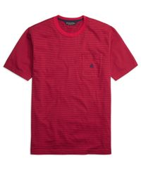 Brooks Brothers - Red Stripe Tee Shirt for Men - Lyst