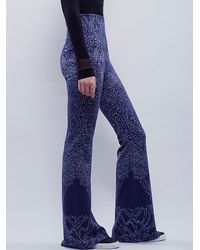 Free People | Blue Rising Sun Sweater Flare | Lyst