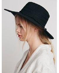 Free People | Black Lace Lover Wide Brim Hat | Lyst