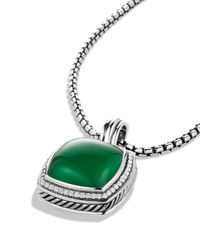 David Yurman | Metallic Albion Pendant With Green Onyx & Diamonds | Lyst