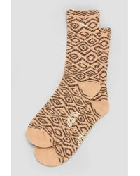 Obey - Brown Temple Sock for Men - Lyst